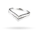 Wzór 2 srebrnego pierścionka w świecy Happy Christmas