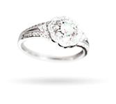 Wzór 4 srebrnego pierścionka w świecy Happy Christmas