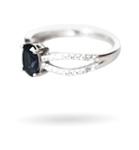 Wzór 6 srebrnego pierścionka w świecy Blueberry Smoothie